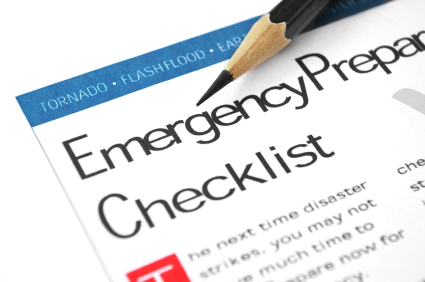 Emergency Preparation Checklist for weather emergencies