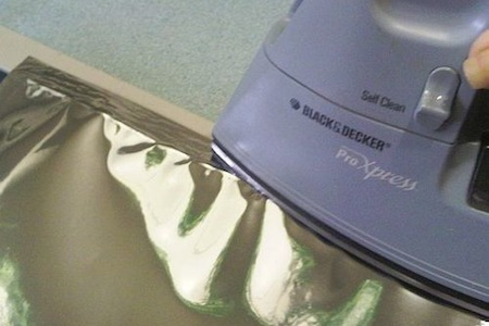 sealing mylar with an iron