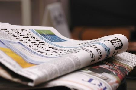 Using newspaper as a prepper