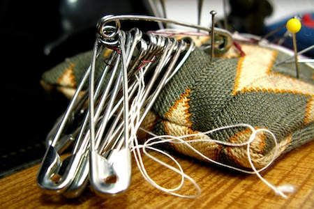 safety pins as a survival tool