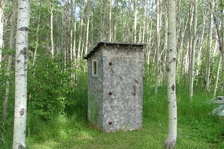 how to use the bathroom in the woods