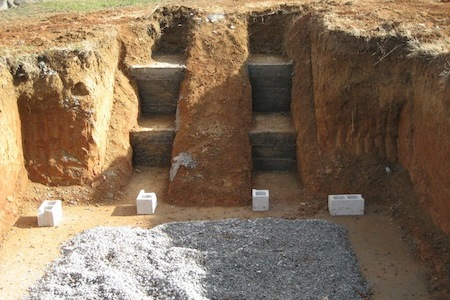 the foundation of our root cellar