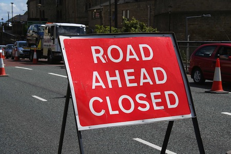 financial road closed