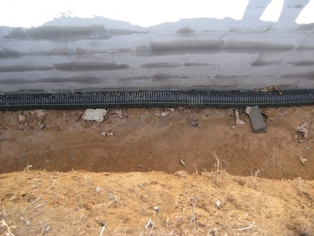 Good drainage for the root cellar
