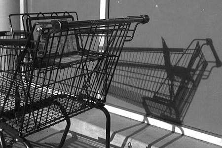 An empty shopping cart