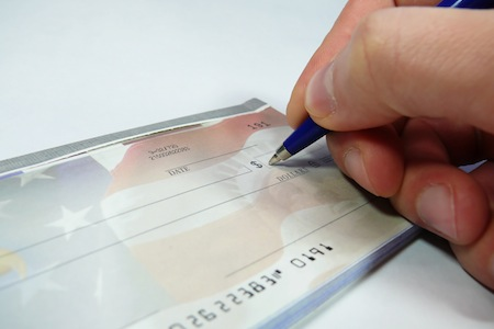 Writing a check for the deficit